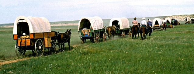 Montana Wagon Train across the Prarie - See America - Visit USA Travel Guide